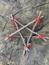 5 point stick star